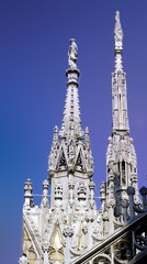particular of milan cathedral italy