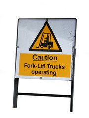 forklift truck warning sign