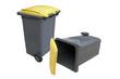 poubelles jaune