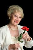 elegant successful senior lady poster