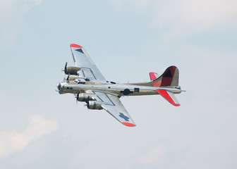 flying fortress vintage bomber