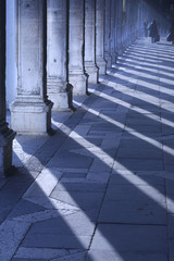 early morning light casts long shadows in san marc