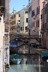 the colorful streets and canals of venice