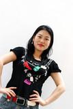 confident korean woman poster