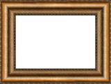 antique golden picture frame poster
