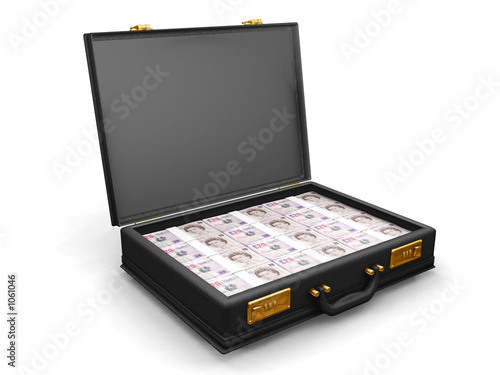 poster of briefcase full of money