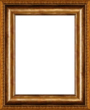antique rustic wooden picture frame poster