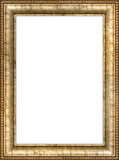 antique wooden vertical picture frame poster