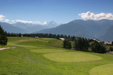 golf hole 8 in crans-montana poster