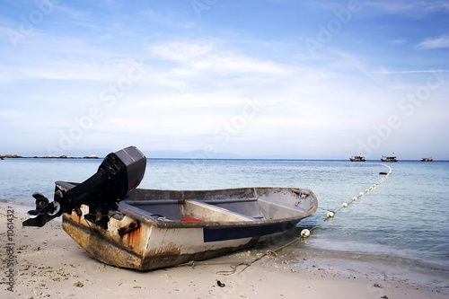 canvas print picture speed boat