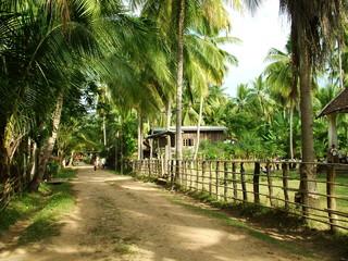 village, laos