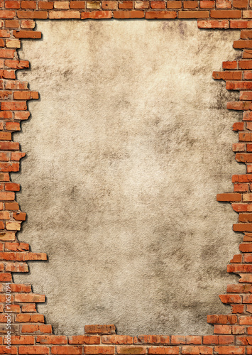 mur-z-cegly-grungy-ramki
