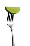 lime on fork poster