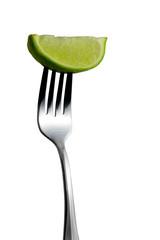 lime on fork