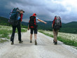 hiking in the storm