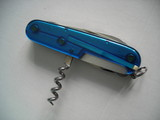 transparent blue swiss army knife poster