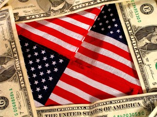 american and money background