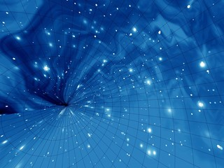 blue space abstract