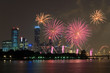 singapore city during the night with fireworks