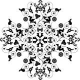 element for design, corner flower, vector poster