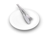 plate with cutlery poster
