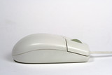 white computer wheel mouse side poster