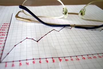 eyeglasses and chart