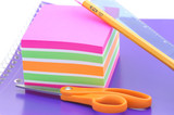 colorful notepads poster