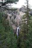 yellowstone national park waterfall poster