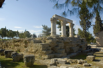 temple of octavia in ancient corinth