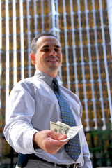businessman offer money
