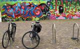 bicycle and grafiti poster