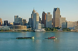 detroit skyline during day