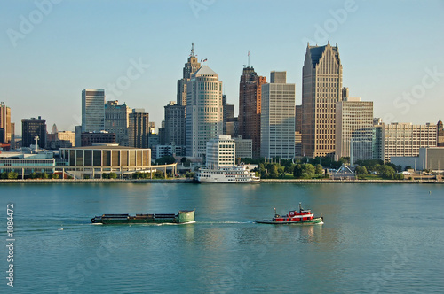 Fotobehang Grote meren detroit skyline during day