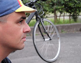 profile of a cyclist poster