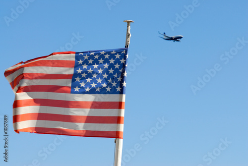 drapeau usa & avion