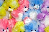 multicolored teddy bears poster