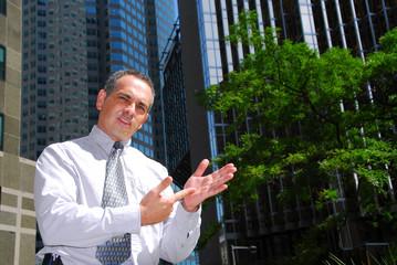 businessman explain