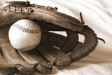 new  bseball in a glove poster