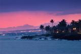 hawaii coast at night poster