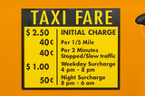 taxi fare decal