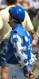 jockey waiting for his mount poster