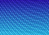 curved grid blue poster