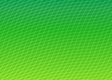 curved grid green poster