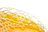 bubbles of orange juice poster