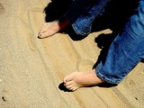 feet in sand poster