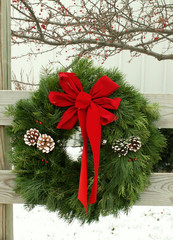 christmas outdoor wreath
