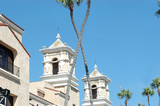 spanish style steeples and palms poster