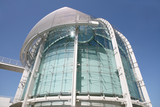 glass domed building poster