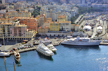 yachts in nice harbour